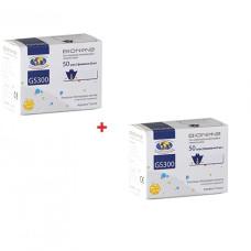 Тест-полоски Bionime GS300 100 шт. две упаковки с 2-мя флаконами по 25 шт. для определения глюкозы в крови глюкометром бионайм райтест GM110, GM300 4710627330218