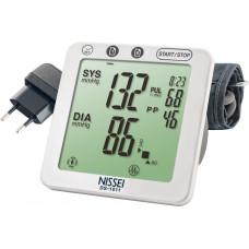 Тонометр автомат на плечо 22-32 nissei ds-1011 2х60 адаптер, изм. при накачке, инд. аритмии и помех, 5лет, сенсор